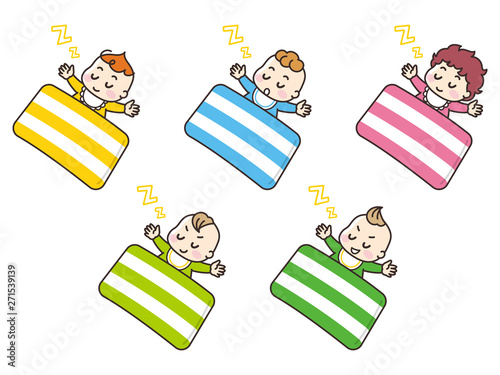 Canvas Print お昼寝する赤ちゃん
