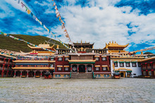 Tibetan Buddhism At Tagong Temple, Sakya,Ganzi Prefecture, Sichuan, China