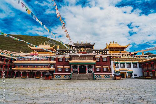 Tibetan Buddhism at Tagong Temple, Sakya,Ganzi Prefecture, Sichuan, China Canvas Print