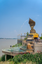 This Is Lan Phanom Naka.It Is Landmarks Along Mekong River , Nakhon Phanom , Thailand