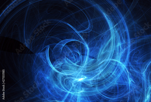 Fototapety, obrazy: Abstract color dynamic background with lighting effect. Fractal spiral. Fractal art