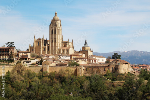 View to the center of Segovia, Spain