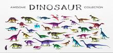Set, Silhouettes, Dino Skeleto...