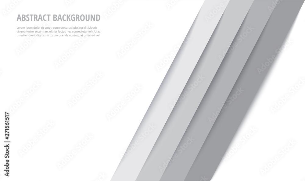 Fototapety, obrazy: abstract modern white lines background vector illustration EPS10