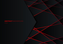 Abstract Template Black Geomet...