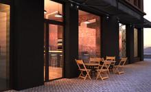 Fashion Retro Cafe Terrace Sto...