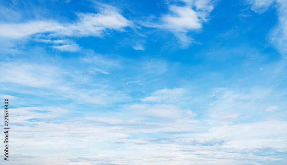 Fototapety, obrazy: white cloud with blue sky background