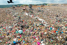 Plastic Pollution Crisis. Huge Landfill Garbage Dump In Malaysia