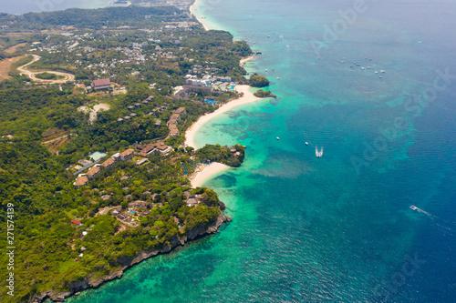 Fototapeta Beautiful Punta Bunga Beach on Boracay island, Philippines