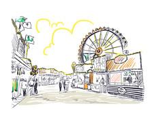Park Amusement Vector Sketch I...