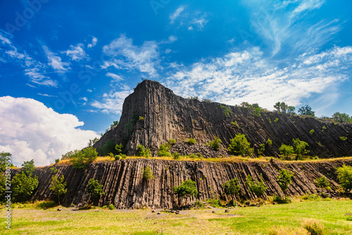 The Hegyestu geological formation at Lake Balaton in Kali basin in Hungary Canvas