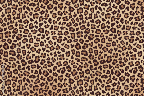 Leopard spotted beige brown fur texture. Vector Poster Mural XXL