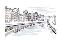 Vector Sketch Illustration Eur...