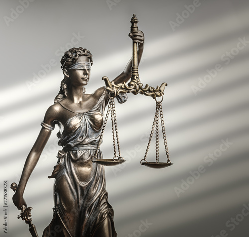 Fototapety, obrazy: Themis Statue Justice Scales Law Lawyer Concept
