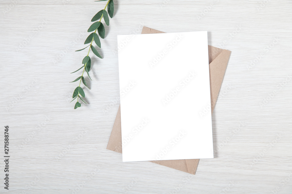 Wedding Invitation Mockup Blank Party Invitation Card