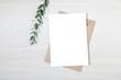 canvas print picture - Wedding Invitation Mockup, Blank Party Invitation Card