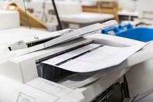 Printshop Printer Printing Out...