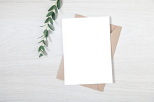 Wedding Invitation Mockup, Blank Party Invitation Card