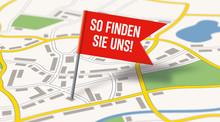 Stadtplan Mit Flaggenpin - So Finden Sie Uns