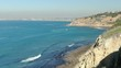 Los Angeles and Palos Verdes Coastline Aerial Establish Shot