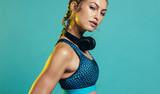 Confident woman in sportswear