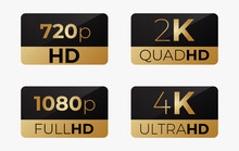4k Ultrahd , 2k Quadhd , 1080 Fullhd And 720 Hd