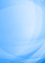Curved Abstract On Blue Background