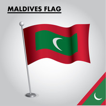 National Flag Of MALDIVES On A...