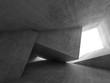 Leinwanddruck Bild - Abstract empty concrete room 3 d