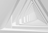 Fototapeta Perspektywa 3d - 3d triangle shaped tunnel perspective