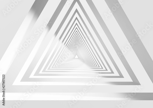 abstract-white-triangular-tunnel-3d