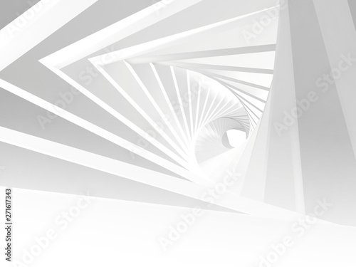abstract-white-twisted-tunnel-3-d
