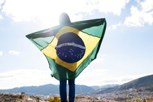 Woman With Brazilian Flag, Ind...