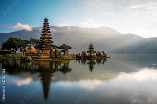 Wall Murals Bali Bali, Indonesia, Ulun Danu Beratan Temple at Sunrise