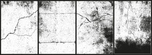 Cracked Concrete Textures. Movable Cracks
