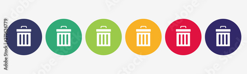 Fotomural Trash bin delete icon. Interface icons collection.