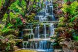 Beautiful waterfall background, summer Thailand, Asian