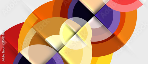Geometric design abstract background - circles - 271633565