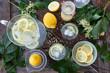 canvas print picture - Hausgemachte Limonade mit Holunder