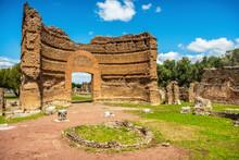 Roman Ruins Villa Adriana In Tivoli Rome - Lazio - Italy