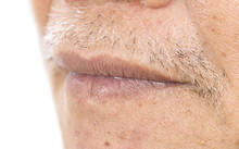 Close-up Of Elderly Asian Man ...
