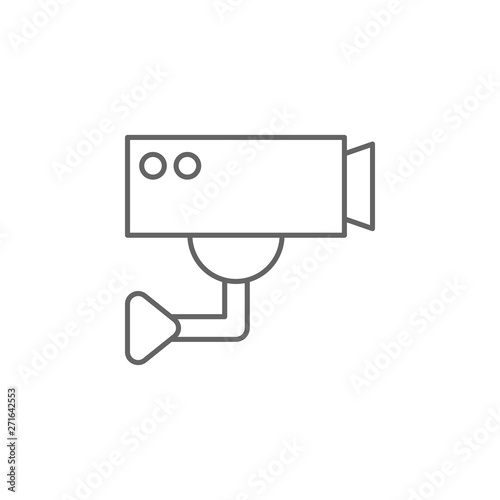 Justice cctv outline icon Wallpaper Mural