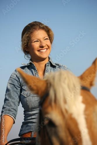 Woman horseriding Poster Mural XXL