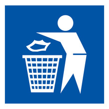 Do Not Litter Symbol Sign, Vec...