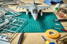 Top View On Plastic Model Scal...