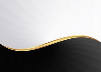 black and white abstract wavy background