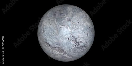 Cuadros en Lienzo Eris dwarf planet space black background
