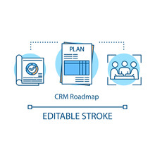 CRM Roadmap Concept Icon