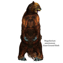 Megatherium Sloth Sitting With...