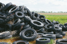 Pile Of Discarded Auto Tires, ...
